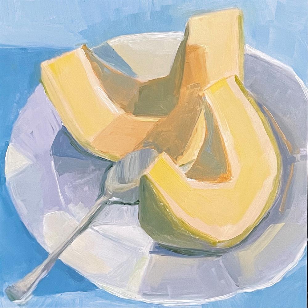 """Fresh Melon"" original fine art by Sheila Longerbeam"