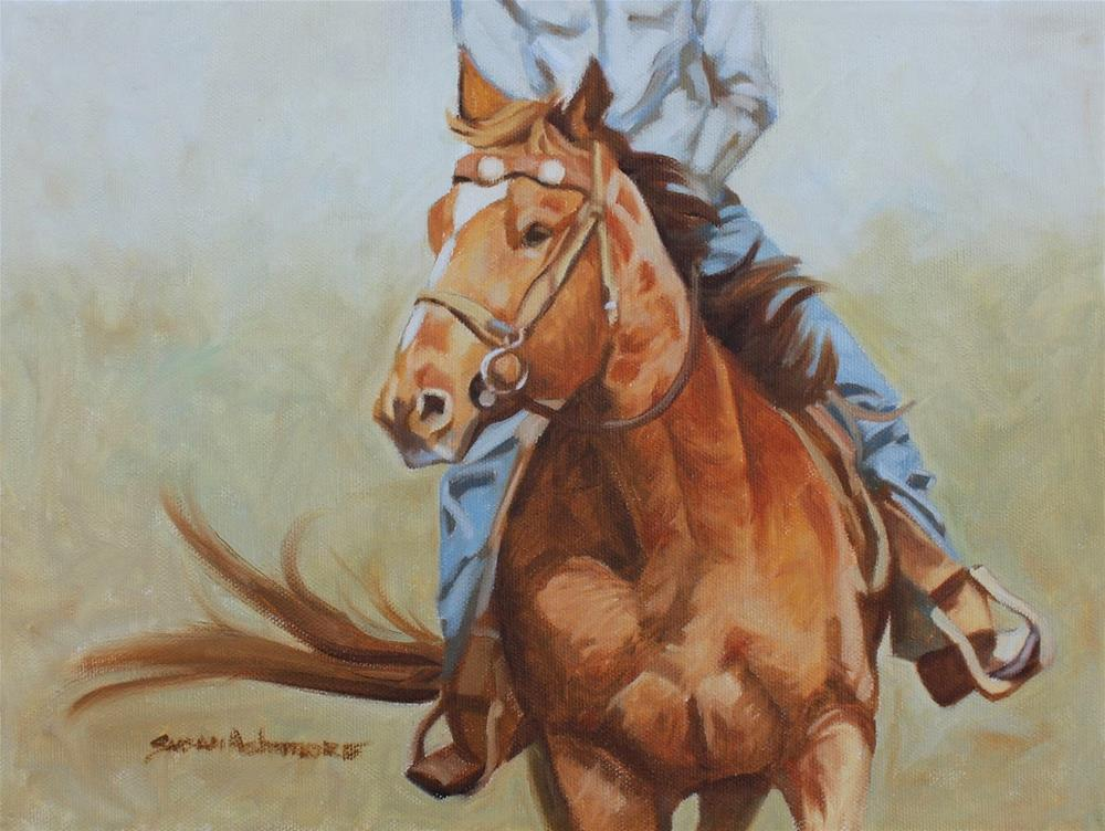 """Chester      9 x 12 in"" original fine art by Susan Ashmore"