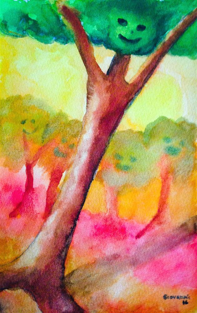 """""""Trees that look as people"""" original fine art by Giovanni Antunez"""