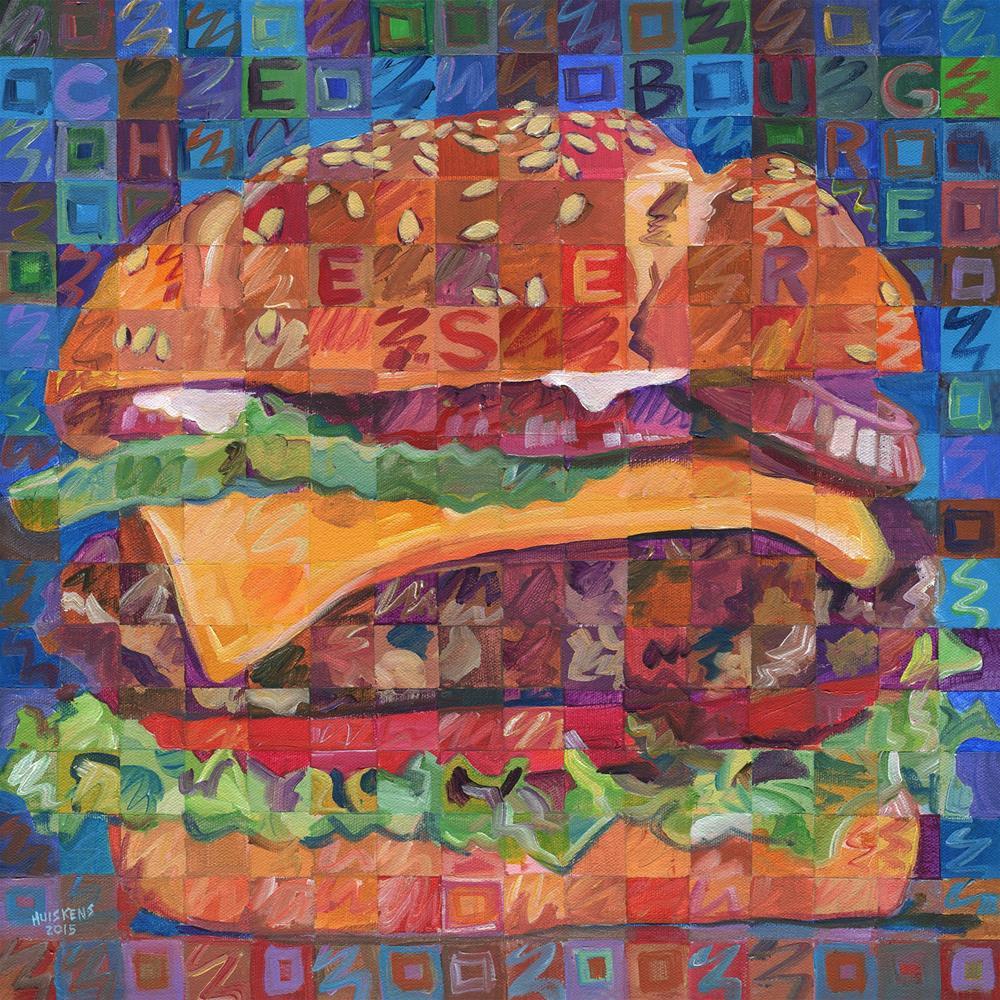"""Cheeseburger"" original fine art by Randal Huiskens"