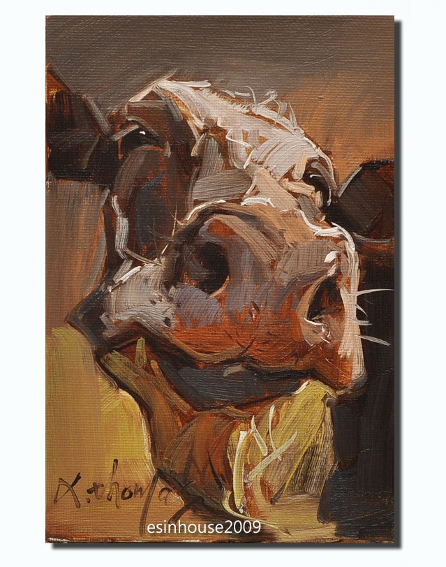 """cow"" original fine art by Thomas Xie"