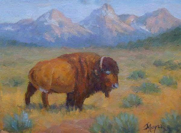 """Buff study"" original fine art by Jim Moyer"