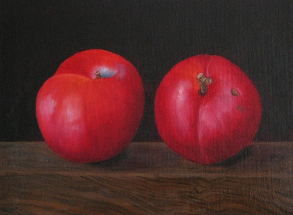 """Juicy red Plums"" original fine art by Pera Schillings"