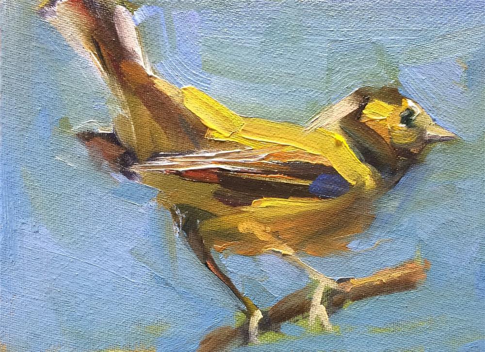 """Yellow Bird"" original fine art by Naomi Bautista"