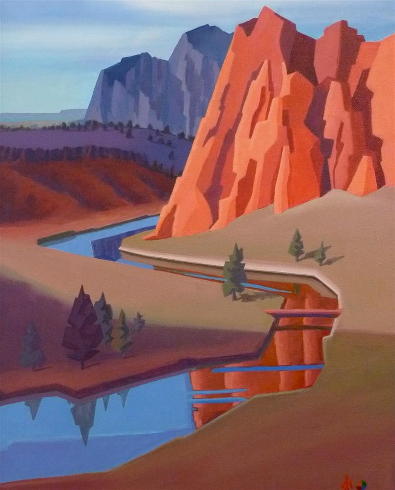 """Smith Rock"" original fine art by Mark Allison"