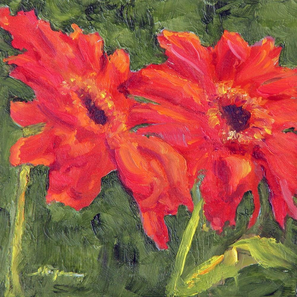 """""""Flowers in the Wind"""" original fine art by Shelley Koopmann"""
