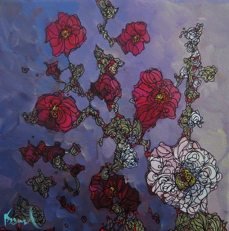 """""""119 RHAPSODY"""" original fine art by Dee Sanchez"""