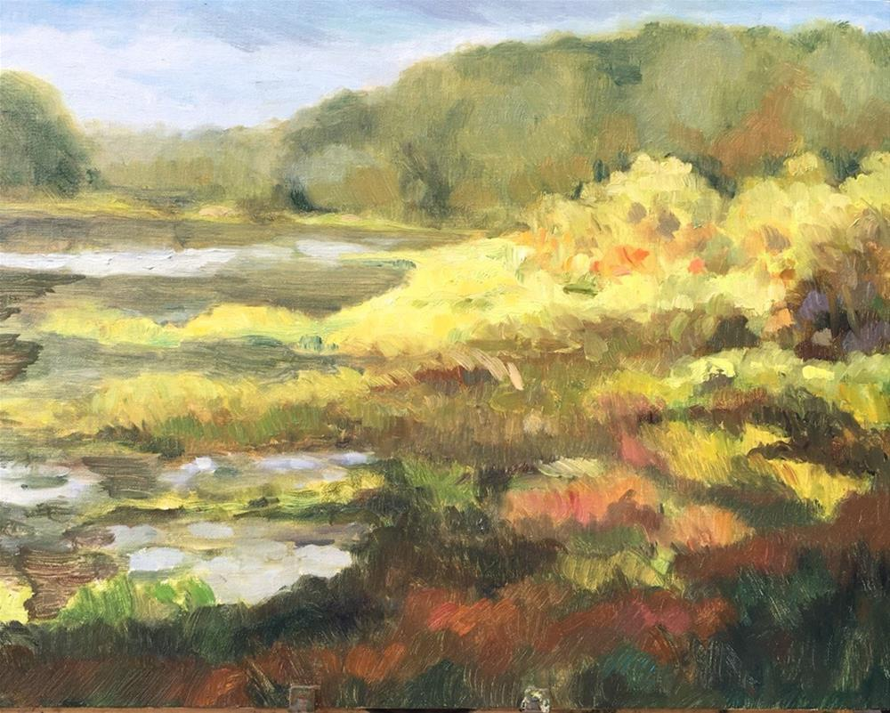 """Light on the Chattahoochee River Basin"" original fine art by Allison Doke"