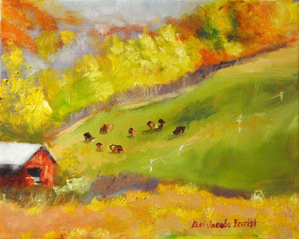 """NY Landscape Series #6"" original fine art by Lori Jacobs - Farist"