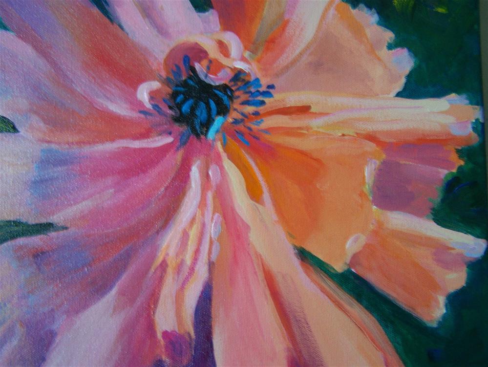 """Tissue Paper Poppy"" original fine art by Joan Reive"