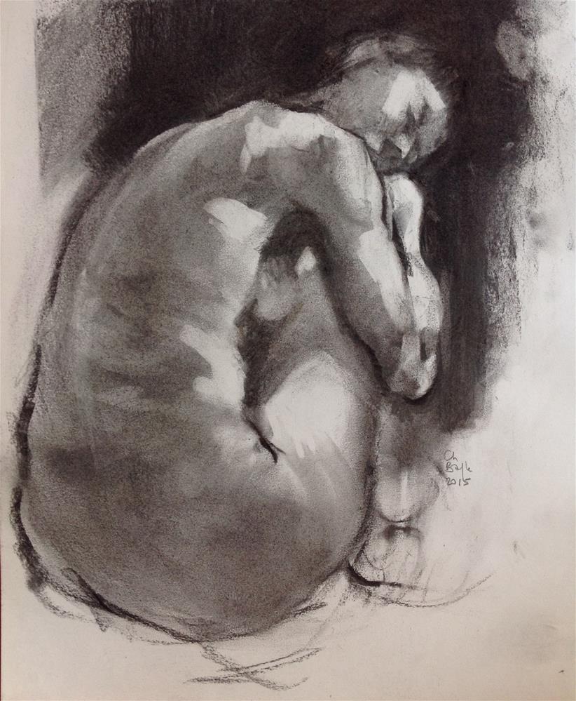 """Study 3"" original fine art by Christine Bayle"