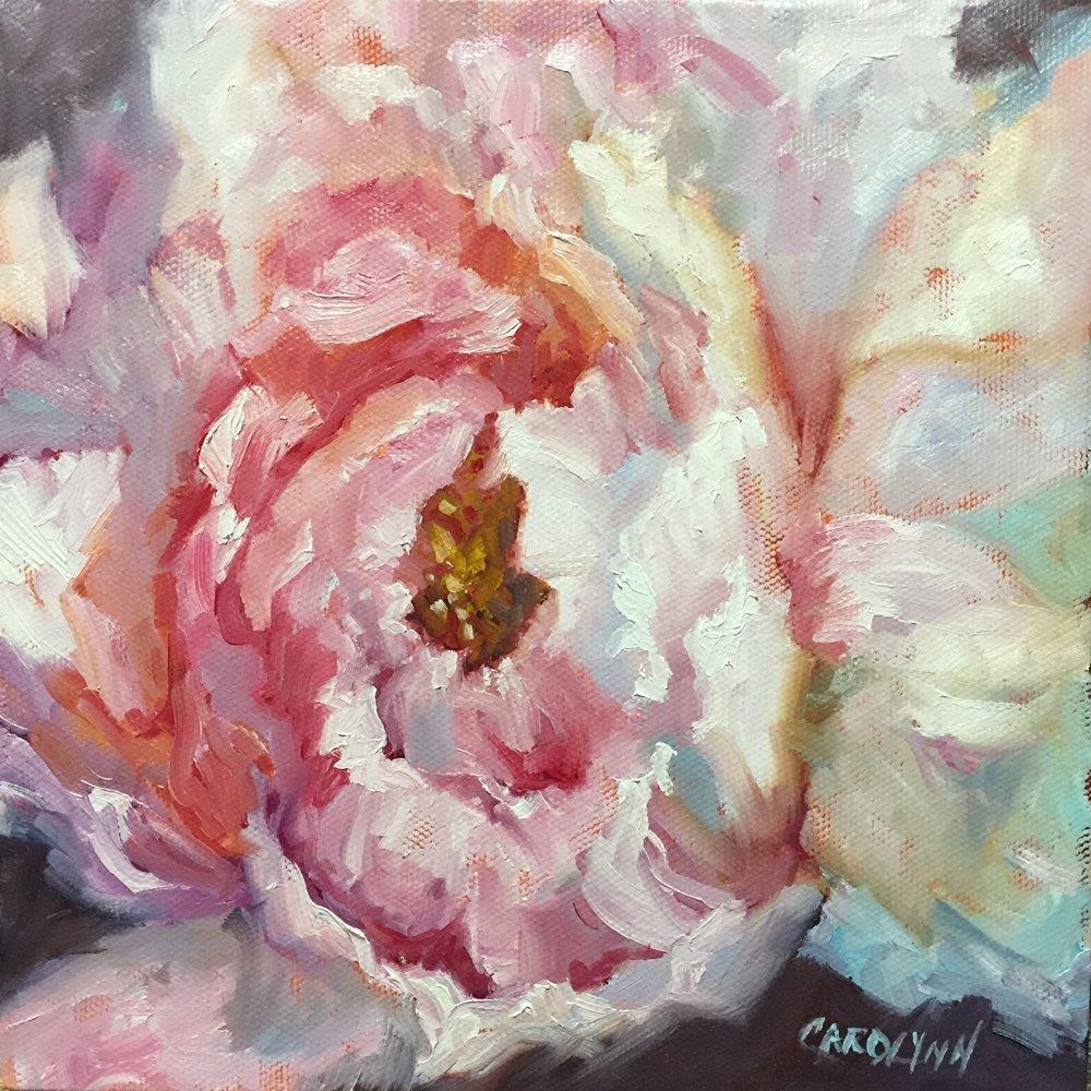 """Peony Passion"" original fine art by Carolynn Doan"