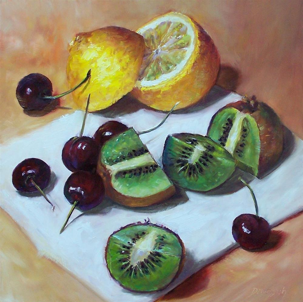 """""""Fruit Maze"""" original fine art by Donna Munsch"""