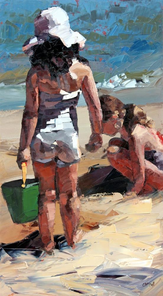"""""""Sandcastles VI"""" original fine art by Claire McCall"""