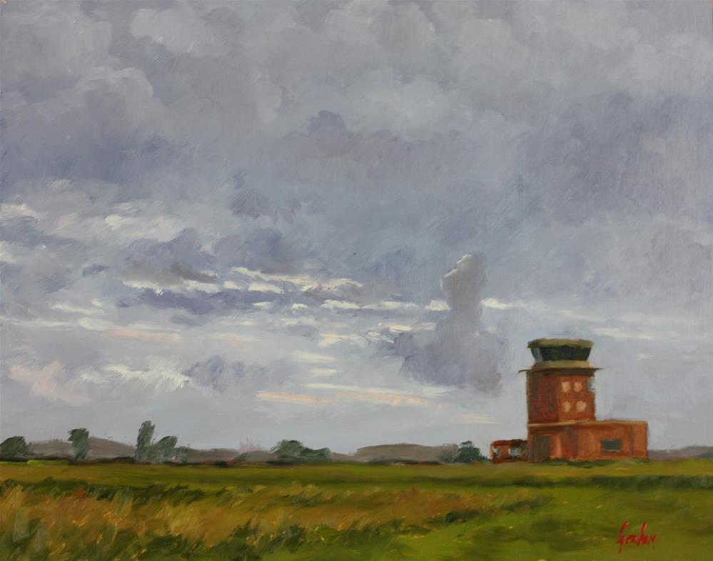 """Summer evening, Chievres"" original fine art by Graham Townsend"
