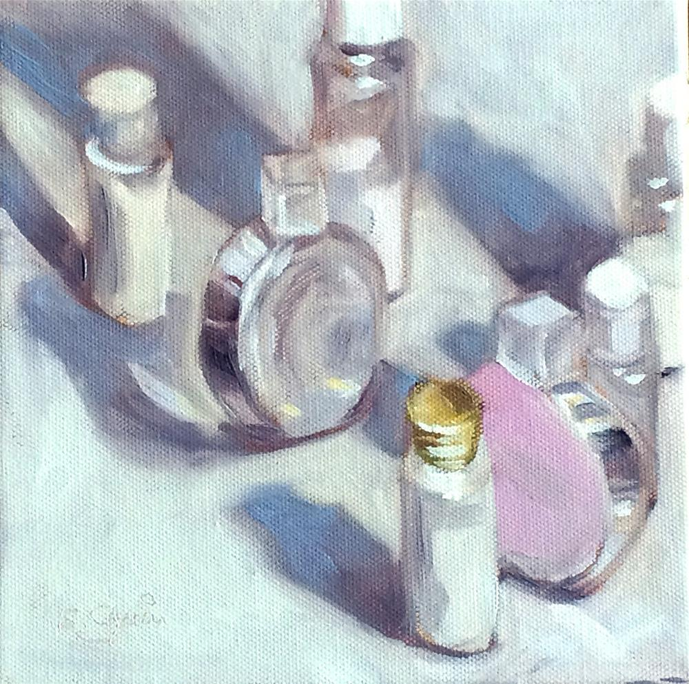 """""""M - is for Marching Beauty Products"""" original fine art by Suzanne Gysin"""