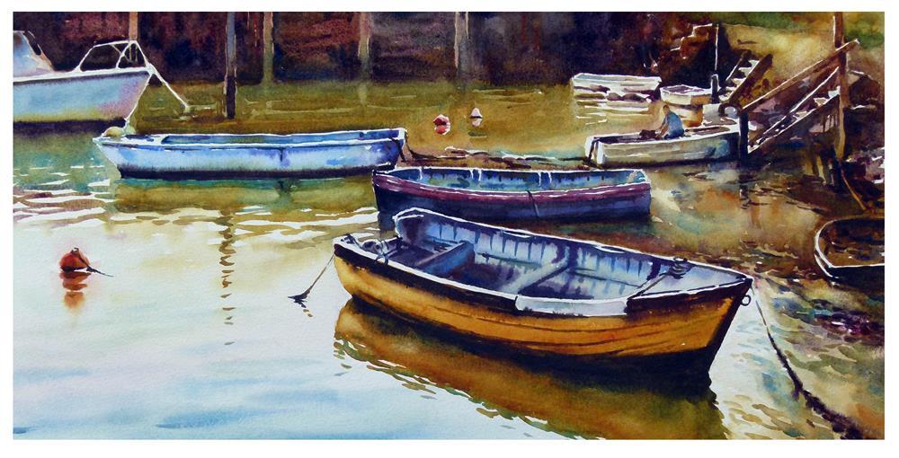 """Bembridge boats."" original fine art by Graham Berry"