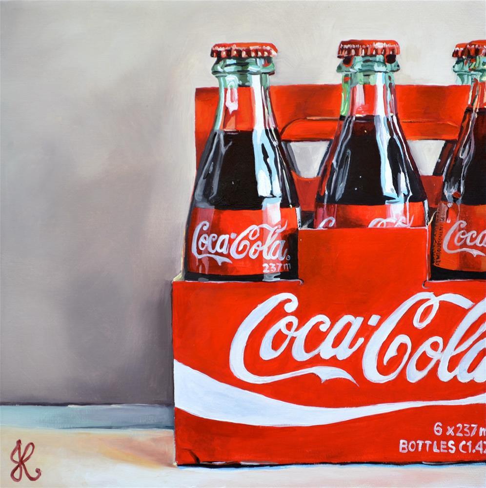 """Coke bottles"" original fine art by Jacinthe Rivard"