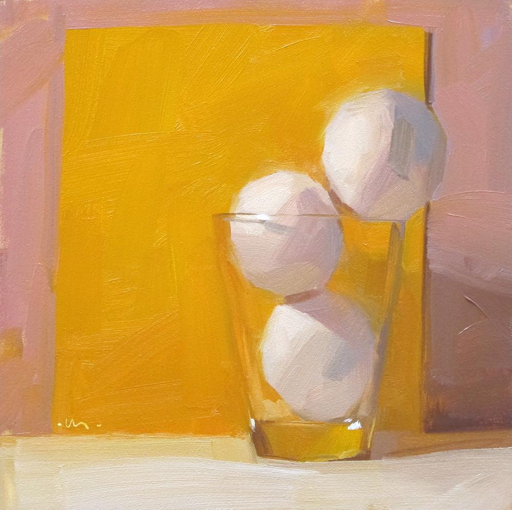 """Eggstra Full"" original fine art by Carol Marine"