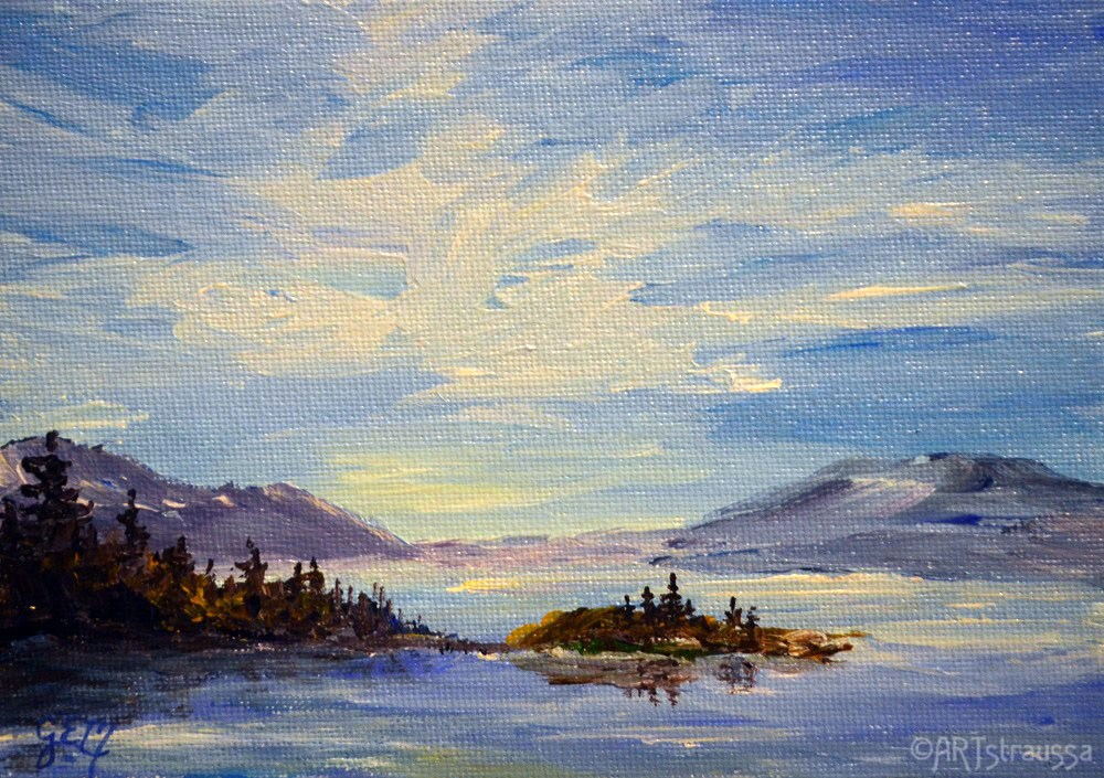 """SALE!!! SaltSpring Island"" original fine art by Gloria Ester"