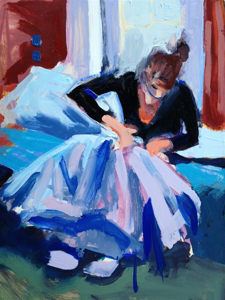 """""""The Little Seamstress II"""" original fine art by Pamela Hoffmeister"""