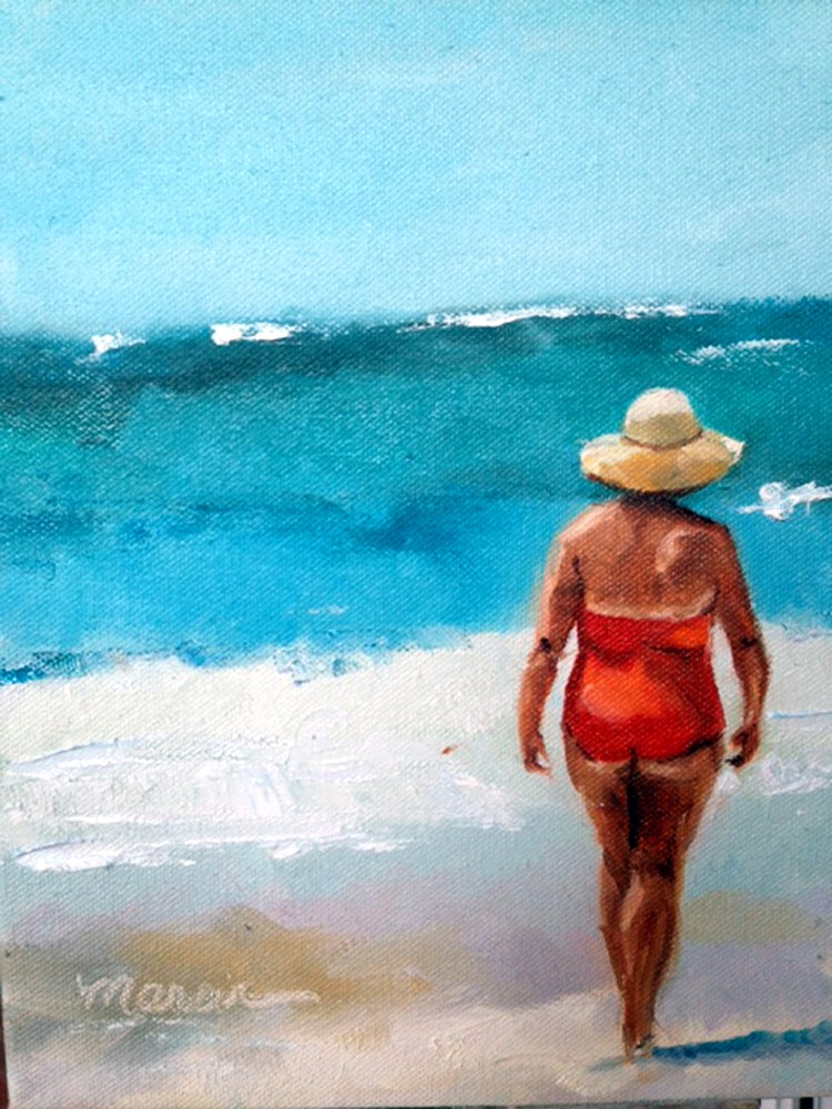 """Summertime and The Living is Easy"" original fine art by Marcia Hodges"