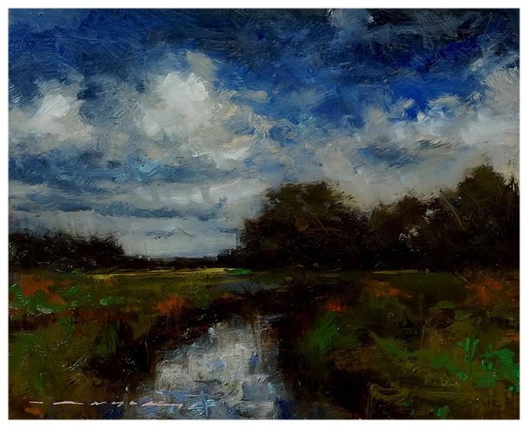 """""""Summer Clouds"""" original fine art by Angel Angelov"""