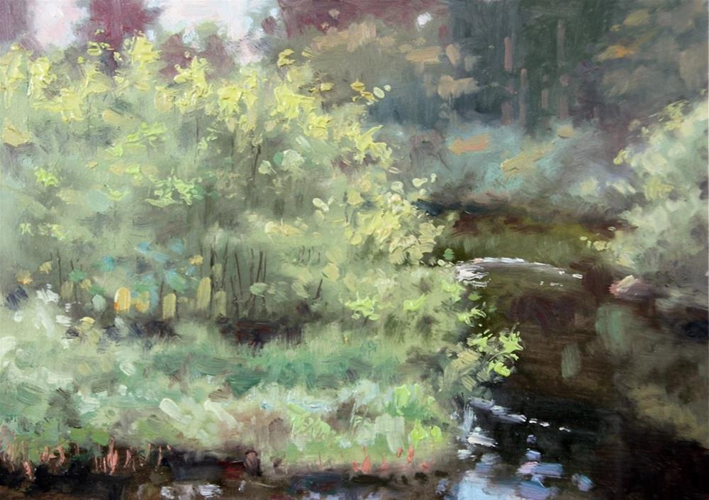 """Newald Bridge View"" original fine art by Larry Seiler"