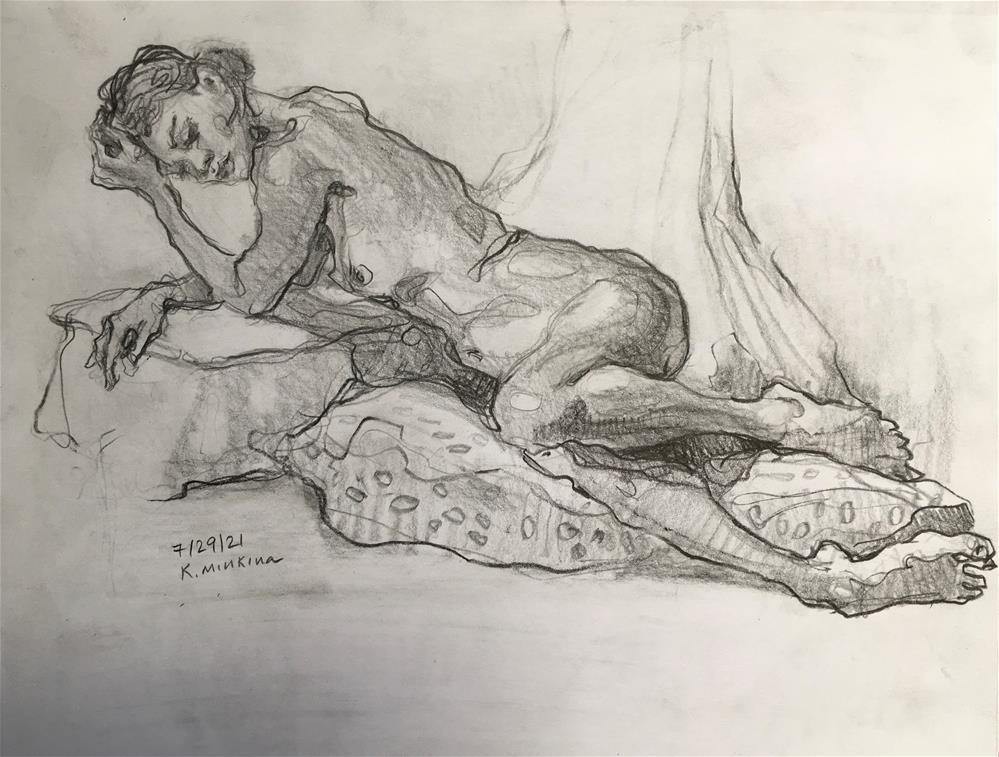 """Figure82"" original fine art by Katya Minkina"