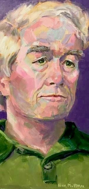 """bushy brows"" original fine art by Nora MacPhail"