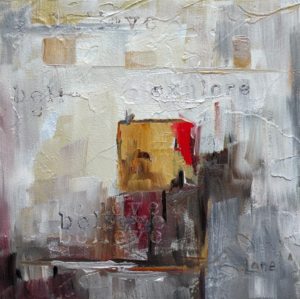 """BELIEVE AND EXPLORE &COPY:SAUNDRA LANE GALLOWAY"" original fine art by Saundra Lane Galloway"