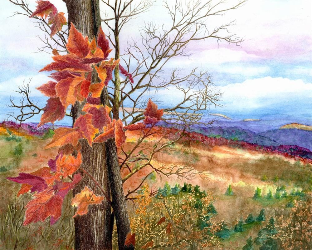 """Whispers of Autumn"" original fine art by Jeanne Strohrmann"