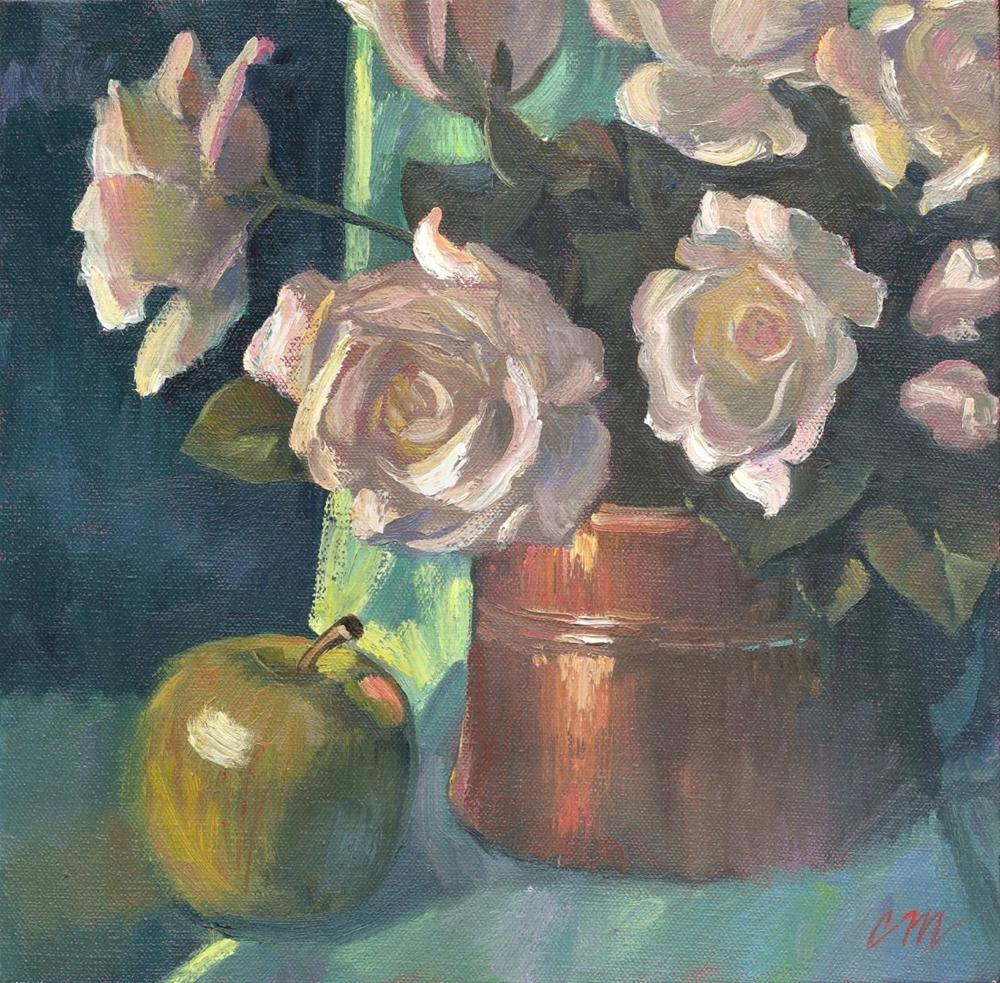 """Roses in Copper"" original fine art by Connie McLennan"