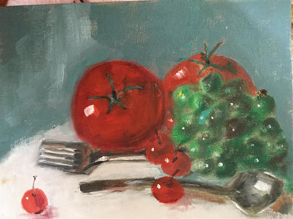 """Hide the silverware"" original fine art by pamela kish"