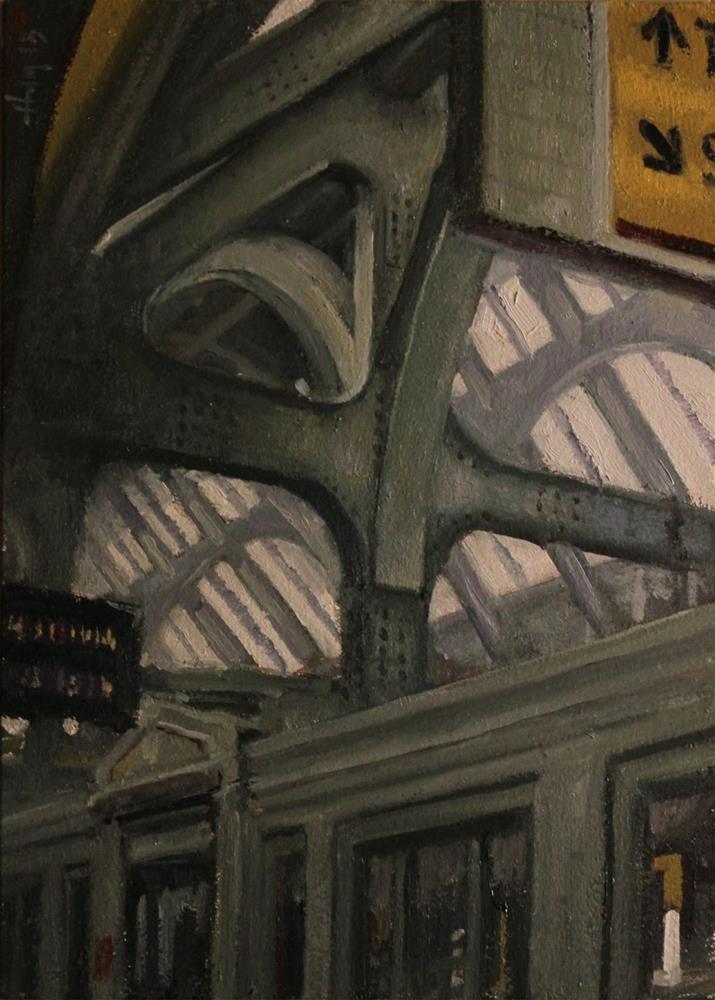 """The Station"" original fine art by Ski Holm"