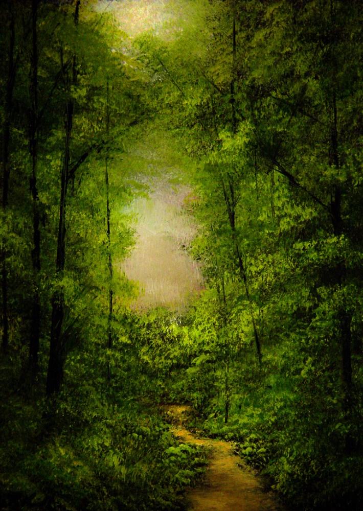 """Forest Path"" original fine art by Bob Kimball"