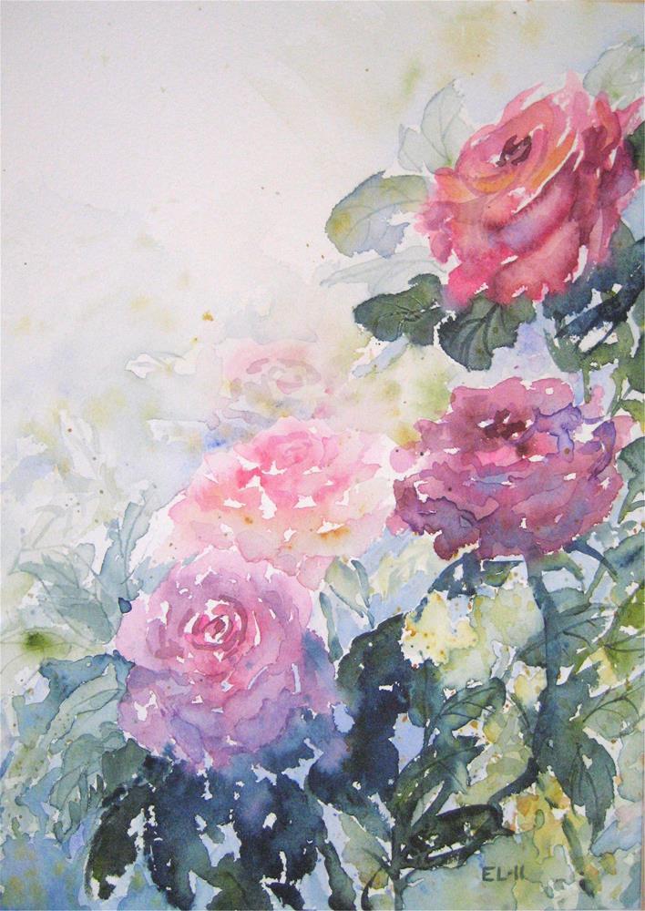 """Mother's Day Roses"" original fine art by Emilia Leinonen"