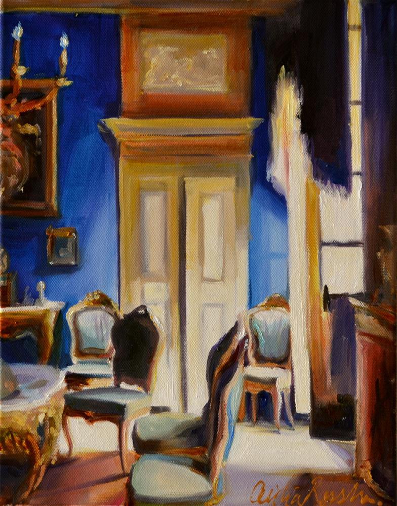 """""""LA CHAMBRE BLEUE"""" original fine art by Cecilia Rosslee"""