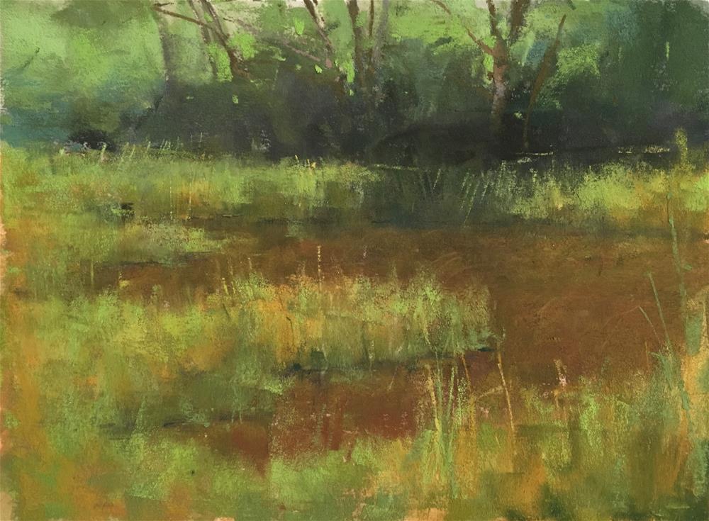 """Marsh Pool"" original fine art by Jacob Aguiar"