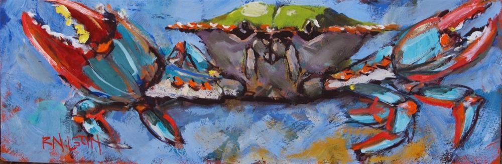 """""""A Long and Narrow Crab"""" original fine art by Rick Nilson"""