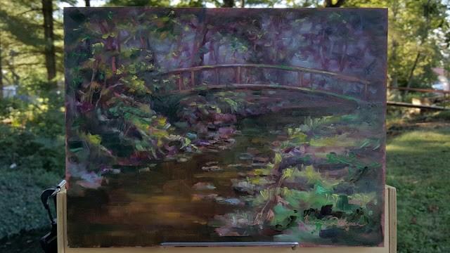 """Footbridge Daydream"" original fine art by Tammie Dickerson"
