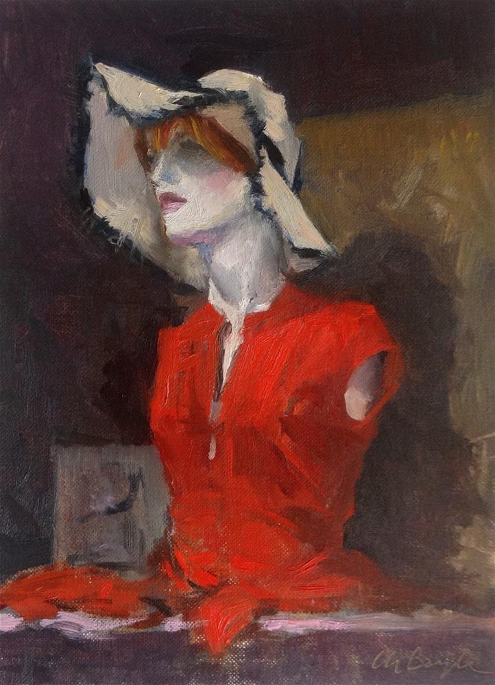 """""""Mannequin with red dress"""" original fine art by Christine Bayle"""