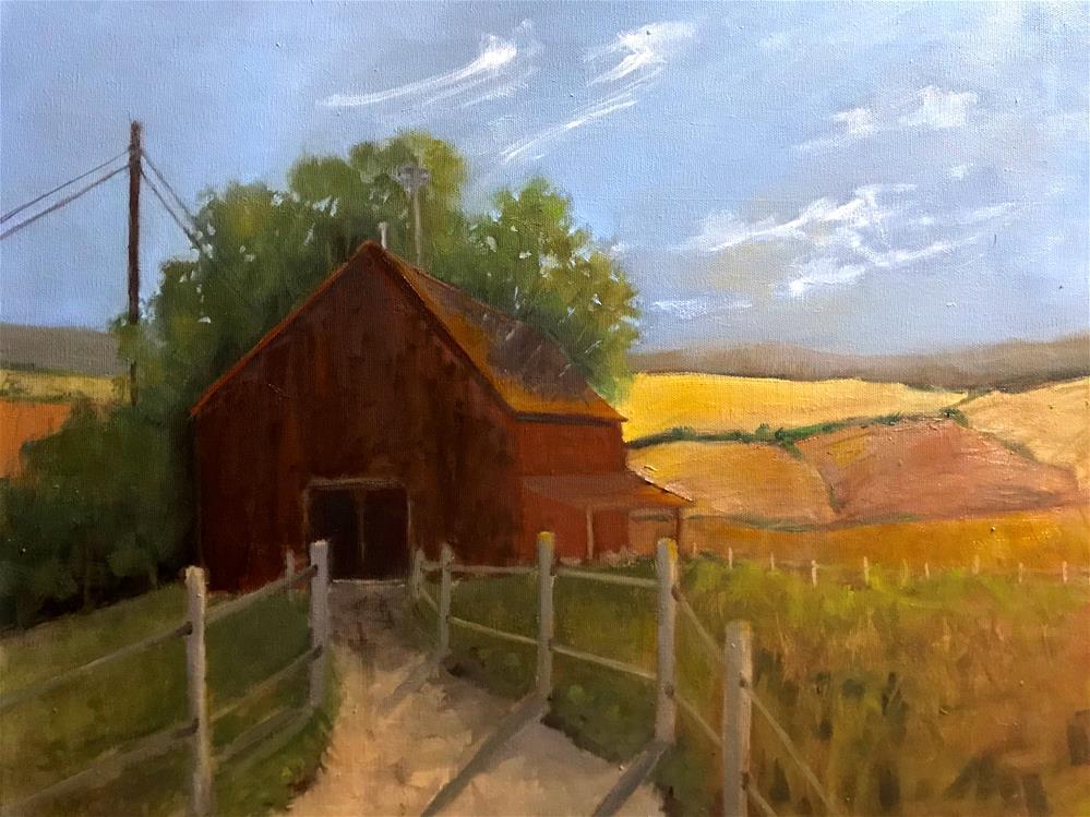 """the barn"" original fine art by Betty Argiros"