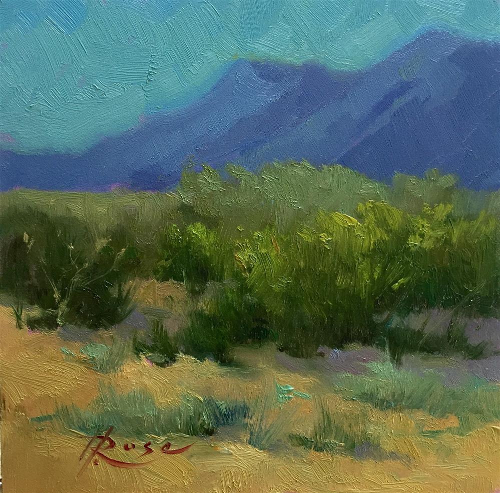 """Near Madrid, SantaFe"" original fine art by Howard Rose"