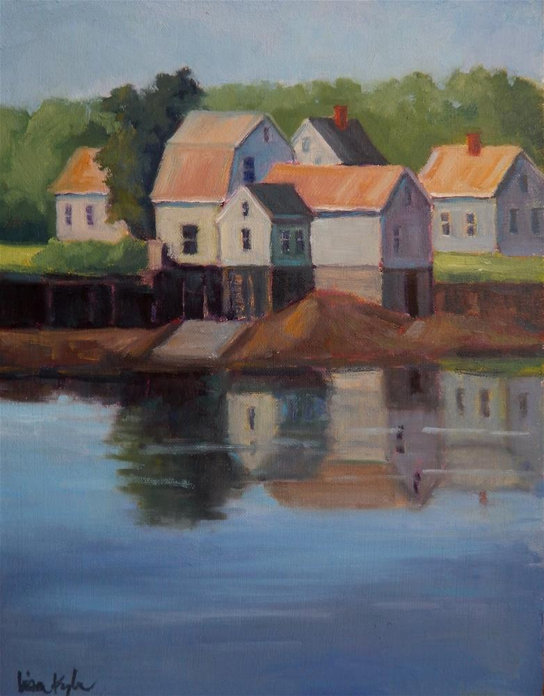 """""""Reflections at Low Tide"""" original fine art by Lisa Kyle"""