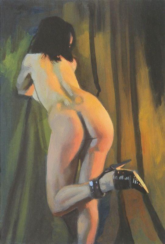 """Kicking your heels"" original fine art by Peter Orrock"