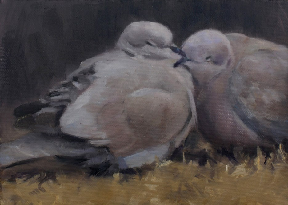 """Sleepy Pair"" original fine art by Pamela Poll"