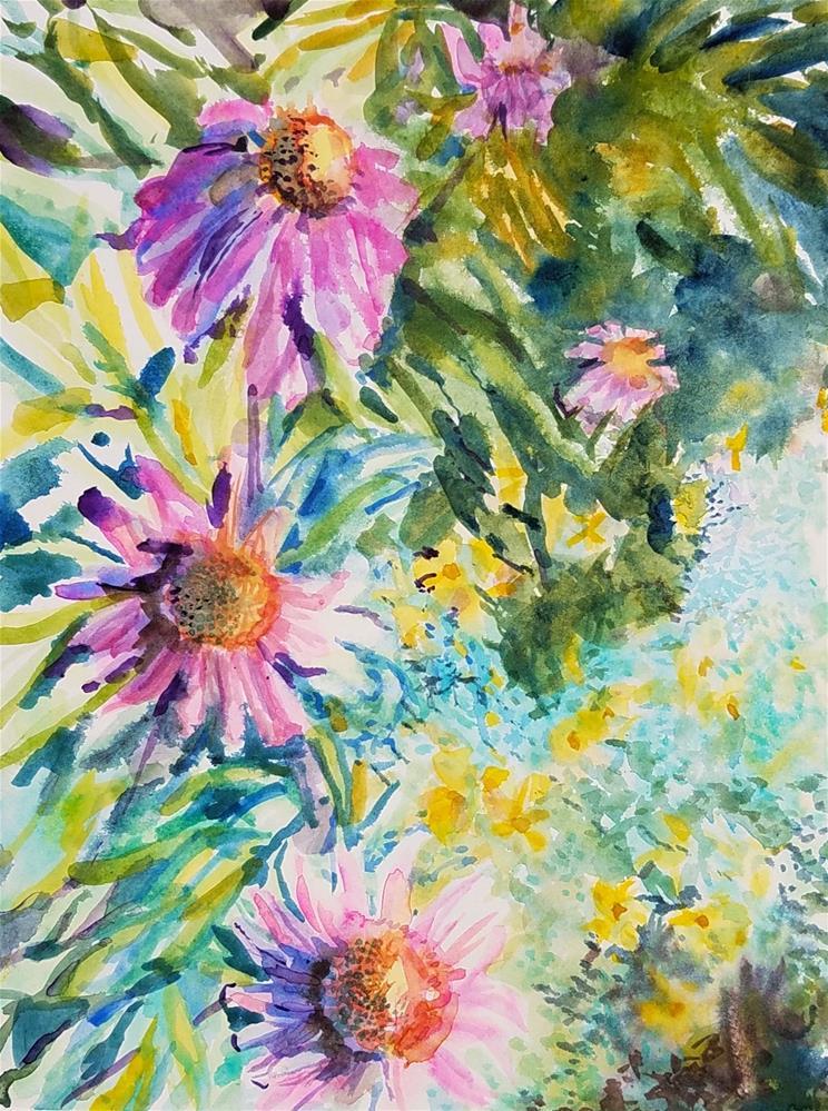 """Echinacea"" original fine art by Jean Krueger"