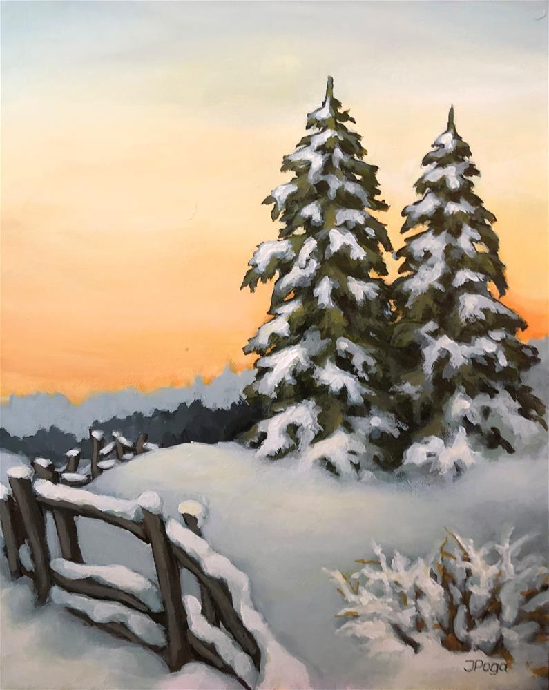 """Overlooking the dusk"" original fine art by Inese Poga"