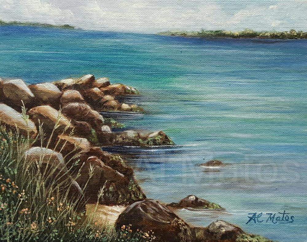 """Sebastian inlet in spring"" original fine art by Al Matos"